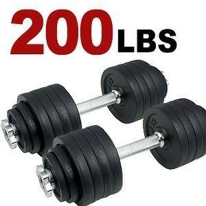 200 lbs Adjustable Dumbbells Weight Kit 100 lbs x 2pcs Dumbbell