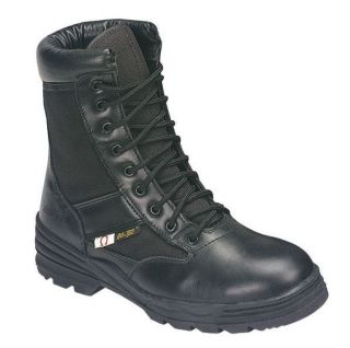 AdTec Mens 9 SWAT Military Boot Black Color Leather with Cordura