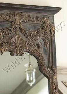 French Ornate Adalina Floor Mirror Large Carved Wall Tuscan Old World