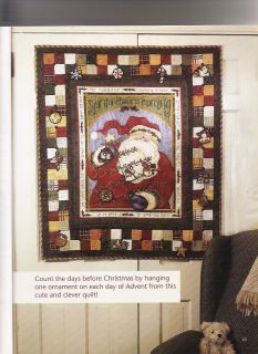 Santas Coming Fabric Advent Calendar Wall Hanging Kit Sandy Halverson