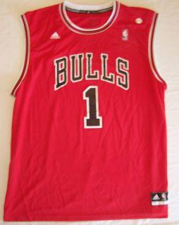 ADIDAS mens $50 NBA Basketball Jersey CHICAGO BULLS #1 Jalen Rose Red