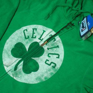 Boston Celtics Womens NBA Full Zip Hoodie Sweatshirt