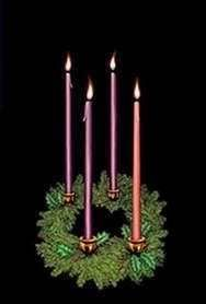 Christmas Window Poster Advent Wreath 3ft x 5ft New
