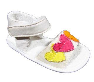 Agatha Ruiz de La Prada Love Sandals Girls Shoes Heart Baby White