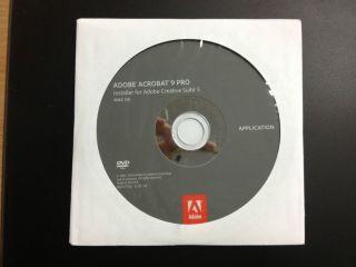 Adobe Acrobat 9 Pro for Mac Install DVD and Genuine Adobe Serial Key