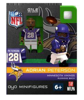 Adrian Peterson Oyo Mini Fig Figure Lego Compatible Minnesota Vikings