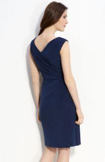 Adrianna Papell Side Twist Faux Wrap Dress 12 $138