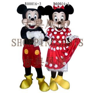 Mickey Mouse Mascot Costume Fancy Dress Evening R00016 Adult One Size