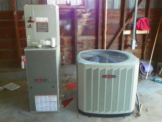 Trane Natural Gas Furnace with Trane Air Conditioning Coil & Condenser