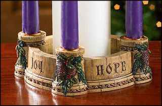 Joy Faith Love Hope Church Advent Candle Wreath Christmas Gift