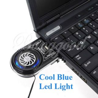 Mini Vacuum Blue LED USB Air Extracting Cooling Fan Cooler for