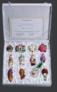 New Merck Family Old World Christmas 12 PC Brides Tree Colletion