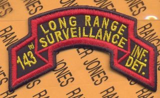 143rd Inf DET TX ARNG LRS Airborne Ranger Scroll Patch