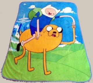New Adventure Time Finn & Jake Soft Plush Fleece Throw Gift Blanket