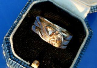 Antique Victorian 18ct Gold Rose Cut Trilogy Diamond Snake Ring c1870