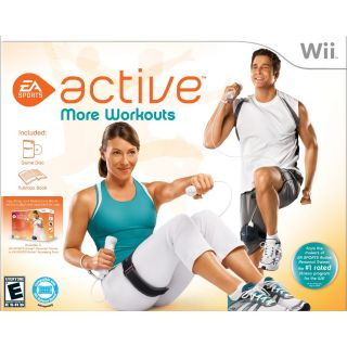 New Nintendo Wii Console System White ea Sports More Workouts Bundle