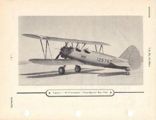 1945 WWII Army Model PT 17 Stearman Pilot Flight Manual