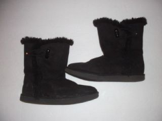 airwalk 1 black suede faux fur stylish boots