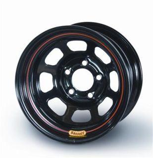 Bassett Racing IMCA 8 Spoke D Hole Beadlock Black Powdercoated Wheel