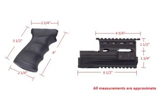 JG AK47 0506 & 0512 Airsoft Rifle Tactical Hand Guard and Pistol Grip