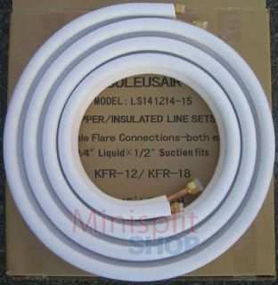 25 Feet Mini Split Air Conditioner Line Set