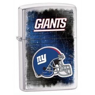 Zippo New York Giants NFL Logo Lighter, Brushed Chrome, 28210