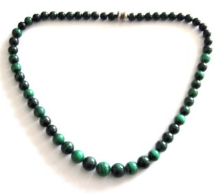 Jay King Mine Finds Graduated Malachaite Beaded 20 Necklace $99