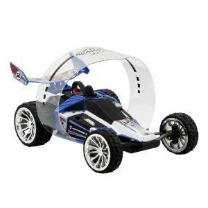 RC AIR HOGS HYPERACTIVE RADIO CONTROL BLUE SILVER CAR TOYS KIDS BOYS