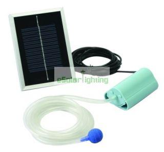 Solar Power Panel Pond Pool Air Pump Oxygen Generator