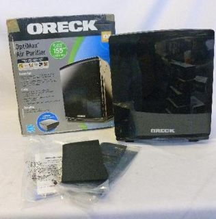 Oreck Optimax Small Room Air Purifier Hepa Type Filtration Black