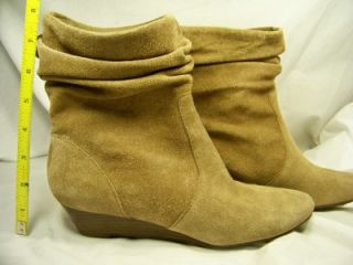 Womens New Anne Klein Alibi Taupe 8 5 Suede Booties