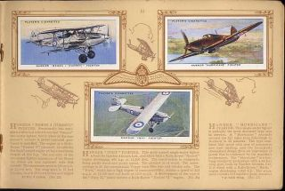 Tobacco Card Album & Cards, John Player, RAF AIRCRAFT, Aeroplane, 1938