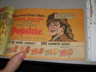 John Wayne 1960 Alamo Popsicle (1 item) premium list comic book,Davy