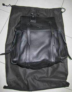Tumi Sundance Alamogordo Backpack Black Leather Travel Bag