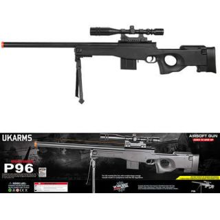 Airsoft M24 Spring Bolt Action Metal Sniper Rifle L96 MK96 Scope Bi