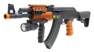 AK47 Spec Ops Assault Rifle Airsoft Machine Gun Spring Load A091B FPS
