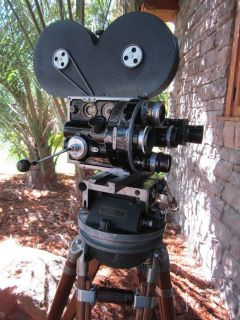 Hand Crank 35mm Movie Camera Akeley Geared Head Baltar Cooke