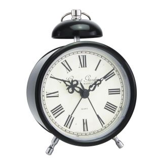 Hometime Novelty Silver Butterfly Double Bell Alarm Clock 5181s