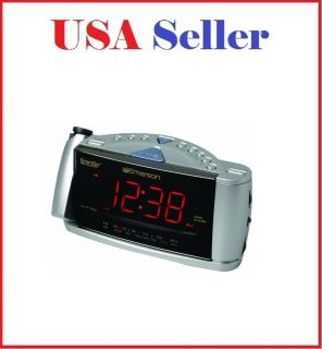 Emerson CKS3528 SmartSet Dual Alarm Clock Radio with Jumbo 1 3 Inch