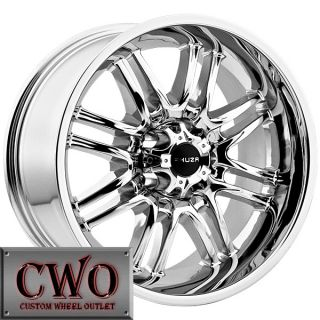 17 Chrome Akuza Ricco Wheels Rims 5x114 3 5 Lug Jeep Wrangler Ranger