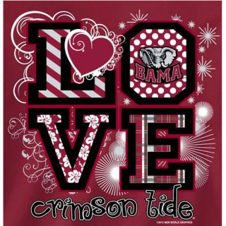 Alabama Crimson Tide Football T Shirts Bama Girls Love Crimson Tide
