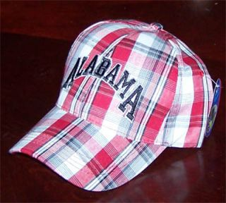 Alabama Plaid Cap Crimson Tide Al Football Fan Golf Hat Bama Ball Caps