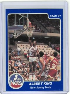 1983 84 Star 151 Albert King Nets Maryland Rookie NRMT