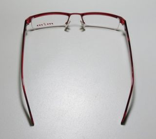 New Alain Mikli 753 52 19 143 Red Black Metal Plastic Eyeglasses