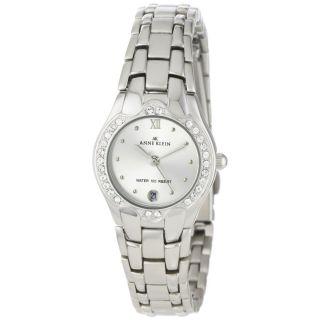 AK Anne Klein Womens 10 6927SVSV Swarovski Crystal Accented Silver