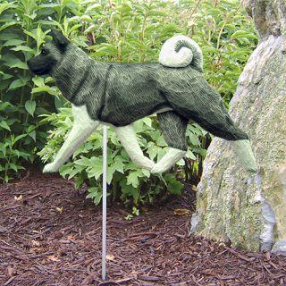 Akita Dog Figure Garden Stake. Home Yard & Garden Dog Breed Products