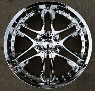 Akuza Blade 381 22 Chrome Rims Wheels GMC Envoy 6x127 Rainier 02 09