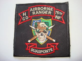 Company 75th Infantry Airborne Ranger Vietnam War Patch