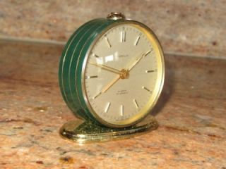 Shelf Alarm Clock 15 Jewels Swiss Mzade. Brass. Runs excellent, alarm