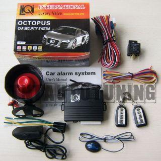 Car Alarm Security System + Immobiliser + Remote Central Locking Kit